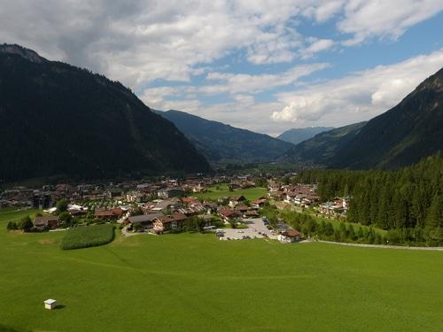 Blick auf die Region Mayrhofen